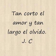 Tan corto el amor y tan largo el olvido. Julio Cortazar