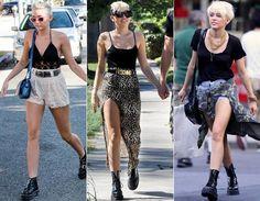 Depois do corte, a estrela não dispensa seu coturno preto de jeito nenhum! Ele fica perfeito com shorts de renda (tendência!), saia de fenda ou shortinhos jeans.