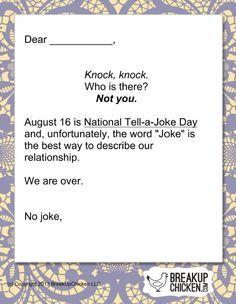 PreValentineS Day Breakup Form Letter C  Breakup Letters