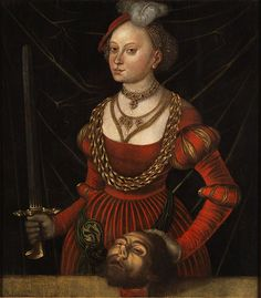 ❤ - LUCAS CRANACH (1472 - 1553)  - Judith with the Head of Holofernes.