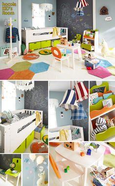 北欧テイストの子供部屋(キッズ家具)