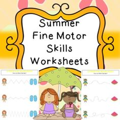 Summer Fine Motor Skills Worksheets Activities Printables No PrepIncludes 3 pages, great for handwriting practice.This product is included in my Giant Summer bundle found here