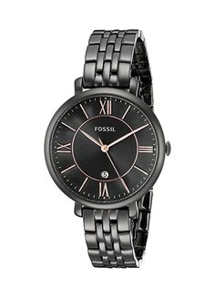 Fossil Women's ES3614 Jacqueline Black Stainless Steel Watch