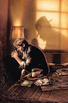 """""""Resolve"""" This piece was created by artist Brian Rood and shows Indy in a moment of reflection."""