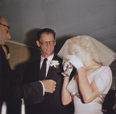 Marilyn Monroe and Arthur Miller getting married on June 29th, 1956