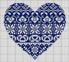 Cross Stitch Design Cross Stitch Heart Pattern (Free Embroidery Pattern) - This gorgeous cross-stitch pattern would look lovely no matter where you place it, on a pillow in multiples, a tea towel or on a pocket. Embroidery Hearts, Embroidery Patterns Free, Counted Cross Stitch Patterns, Cross Stitch Designs, Cross Stitch Embroidery, Embroidery Designs, Embroidery Thread, Christmas Cross Stitch Patterns, Embroidery Tattoo