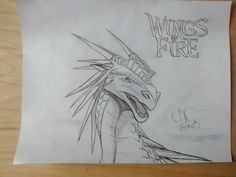 Winter is finish with Wings of fire Logo, this is my favorite Dragon, Icewings <3 | Winter est terminer avec le Logo du livre les royaumes de feu, les ailes de glace font partie de mes dragon préféré.