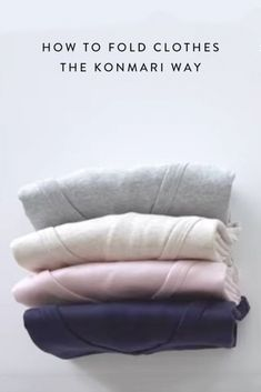 How to fold clothes using the KonMari method created by organizational guru Marie Kondo. #SittingisthenewSmoking