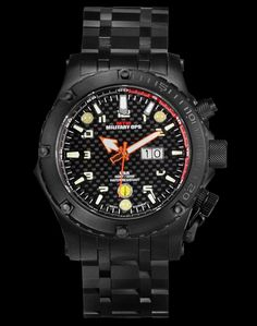 MTM NIGHT OPS BLACK VULTURE MILITARY WATCH
