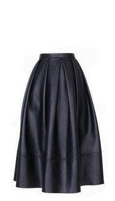 Tibi - Leather Full Skirt