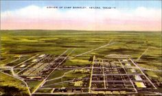 Postcard with a drawing of an aerial view of Camp Barkeley in Abilene, Texas. A note from Woodrow Aten to Helen Aten are written on the back. Central America, South America, Abilene Texas, Aerial View, Southeast Asia, United States, Camping, Things To Sell, Outdoor