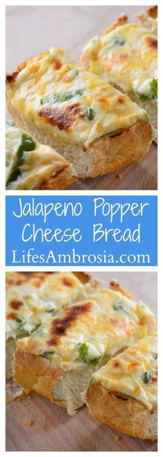 Jalapeno Popper Cheese Bread CollageCheesy and spicy, this Jalapeno Popper Cheesebread is the ultimate game day snack!