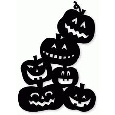 Silhouette Design Store - View Design #66124: toppling pumpkin pile