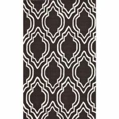 @Overstock - Invoke the feel and warmth of a country home with this stunning woolen hand-hooked rug. Meticulously made using a petit point stitches construction, make your favorite space feel right at home.http://www.overstock.com/Home-Garden/Handmade-Luna-Modern-Trellis-Brown-Wool-Rug-76-x-96/6628894/product.html?CID=214117 $299.69