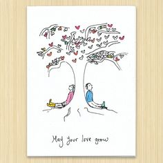 Wedding card Wedding greeting card May Your Love by Rosieswonders