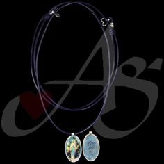 October is the month of the Rosary!  Today's piece: An Image Our Lady of Lourdes sterling silver hand wire wrapped frame with an accent of adjustable blue leather cording. A daily remember of Mary's intercession; Mary, pray for us!  This piece is not available.  If you would like this piece, a similar piece, or any unique piece of jewelry; contact us! Don't forget to stop by our Facebook page, Google+ page, Twitter, Pinterest, or our website.