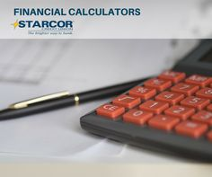 If you find yourself wondering how long it will take to meet your savings goals, or how much you can afford for a vehicle, or what your monthly mortgage payment will be, Starcor Credit Union has tools for you.  Plan out your finances with our free financial calculators: http://www.starcorcu.com/calcs.html