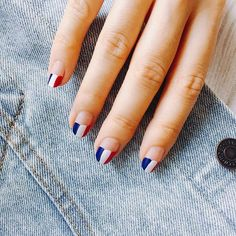 How effing cute are these #4thofjuly nails from @miniluxe  via COSMOPOLITAN MAGAZINE OFFICIAL INSTAGRAM - Fashion Campaigns  Haute Couture  Advertising  Editorial Photography  Magazine Cover Designs  Supermodels  Runway Models