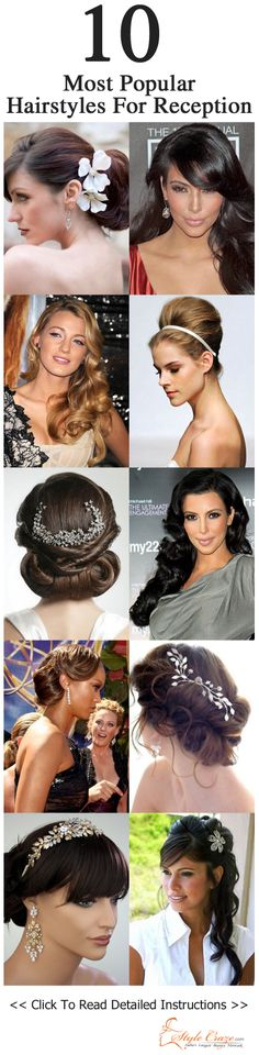 10 Most Popular Hairstyles For Reception