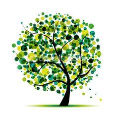 abstrait arbre vert pour votre conception — Illustration #5198146