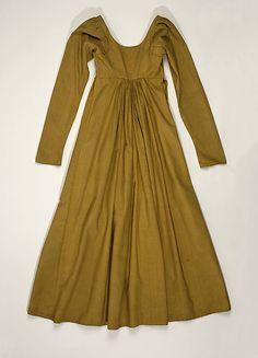 Italian Silk Dress (back), circa 1805-10