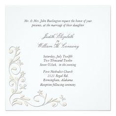 Formal Floral Flourish Wedding Invitation #wedding #weddinginvitations #invitations #weddingplanner
