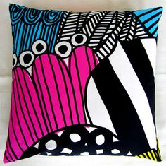another brightly coloured pillowcase from the same series #textiles