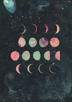 Moon and Stars Illustration Art And Illustration, Illustrations, Moon Fases, Tumblr Soft, Plakat Design, Art Plastique, Stars And Moon, Trippy, Artsy Fartsy