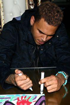 Chris doing art