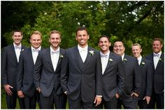 The Groomsmen at Medina Country Club Wedding