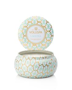 4 new fragrances added to Voluspa's signature home collection. A modern mix of vintage shapes and pop colors, Voluspa's Maison collection is a complete olfactory palate. The Maison Metallo candle is f