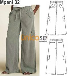 Amazing Sewing Patterns Clone Your Clothes Ideas. Enchanting Sewing Patterns Clone Your Clothes Ideas. Diy Clothing, Clothing Patterns, Dress Patterns, Sewing Pants, Sewing Clothes, Trousers Women, Pants For Women, Mode Hippie, Wrap Pants