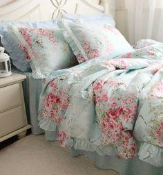 DIAIDI Home Textile,Blue Floral Bedding Set,Princess Lace Ruffle Bedding Set,Twin/Queen/King,4Pcs DIAIDI,http://www.amazon.com/dp/B00DW3804A/ref=cm_sw_r_pi_dp_D.Nxtb1XGPV0X60Q