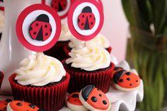 Cupcakes mariquita.