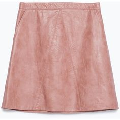 9063459223 Zara Faux Leather Skirt (€36) ❤ liked on Polyvore featuring skirts