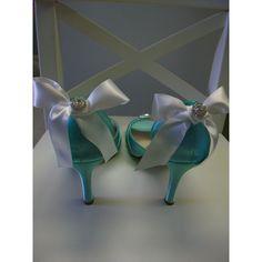 Wedding Shoes - Tiffany Blue Wedding ($164) ❤ liked on Polyvore