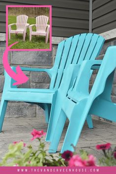 Do you have outdoor furniture that needs a refresh? Anyone can update plastic furniture with this easy and cheap DIY! Find out how to spray paint plastic furniture without spending a lot of time or money Treatment Projects Care Design home decor Outdoor Plastic Chairs, Outdoor Chairs, Outdoor Decor, Outdoor Ideas, Outdoor Spaces, Chair Makeover, Furniture Makeover, Patio Makeover, Painting Plastic Furniture