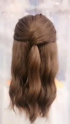 Easy Hairstyles For Long Hair, Cute Hairstyles, Beautiful Hairstyles, Office Hairstyles, Hairstyle Ideas, Simple Hairstyle Video, Natural Hairstyles, Hairstyles For Nurses, Easy Elegant Hairstyles