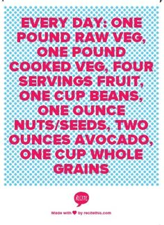 Eat to live guidelines - #eattolive #healthylifestyle #vegan