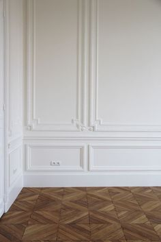 great floors. thoughts on wall molding. this is pretty, but ornate