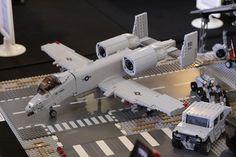 A10 WARTHOG ready to strafe some lego Taliban!