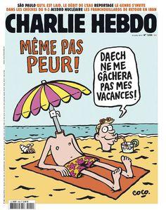 Charlie Hebdo - # 1200 - 22 Juillet 2015 - Couverture : Coco