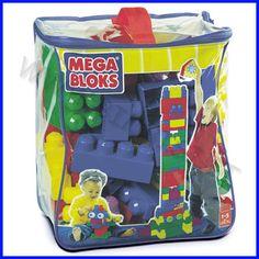 MEGA BLOCKS MAXI SACCA DA 80 PZ    I mattoncini della linea MAXI, robusti e coloratissimi, sono stati appositamente ideati per attirare l'interesse anche dei bambini più piccoli, in quanto sono di facile utilizzo, non richiedono particolari abilità e assicurano tanto divertimento! I prodotti della linea MAXI stimolano lo sviluppo e il miglioramento di abilità basilari come la coordinazione occhio-mano, la capacità di combinare elementi tra loro, la manualità.