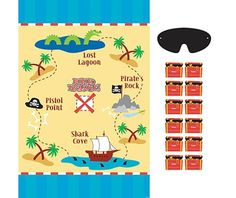 Pirate's Treasure Party Game - Carnival Games - Pinatas & Games - Birthday Party Supplies - Categories - Party City