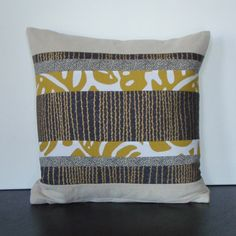 DIY throw pillow--love the easy concept, but with different colors/fabrics