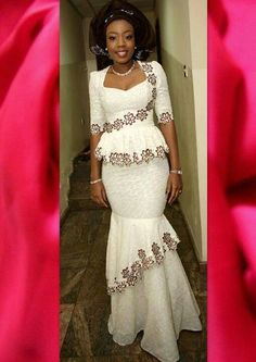 White dress Ankara to look pretty and amazing