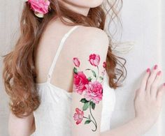Peony tattoo. Like this but a rose..would be fabulous!!
