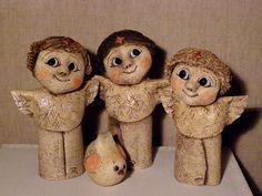 Romana Korečková | Galerie V-ATELIER Ceramic Angels, Owl, Teddy Bear, Pottery, Shapes, Ceramics, Crafts, Animals, Angeles