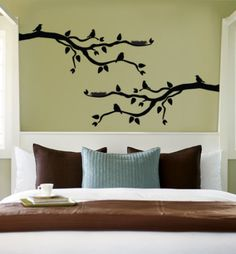 Silhouette branches on green. would look awesome in white against our Red!