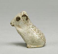 Jerboa figurine. Middle Kingdom. Dynasty 12-14. ca. 1850-1640 BCE> Egypt, Memphite Region, poss. Heliopolis. Faience.